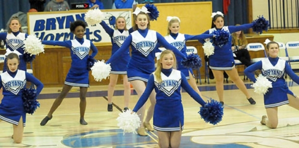 Eighth-grade dance, cheer teams entertain