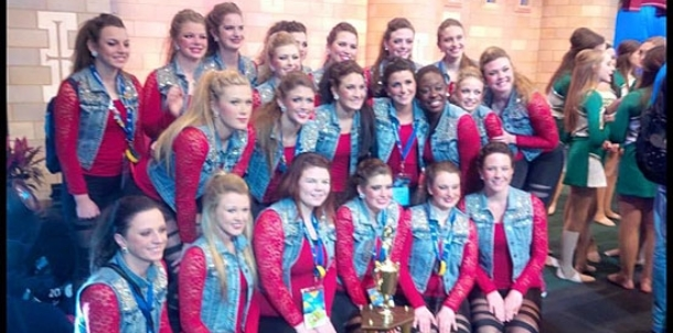 BHS varsity dance team 11th in the nation in Hip Hop division