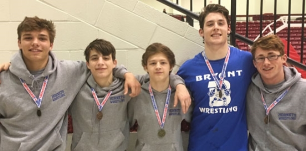 Hornets third at conference meet, head to State this weekend