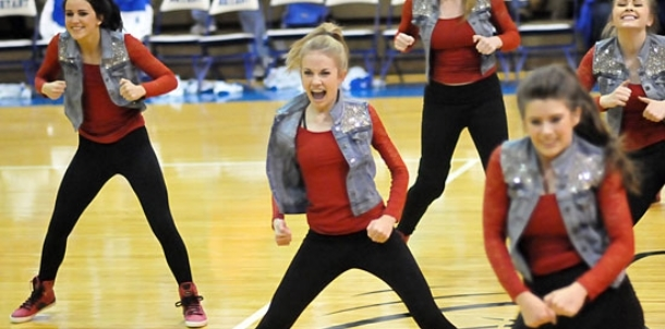 Final home performances for cheer, dance teams