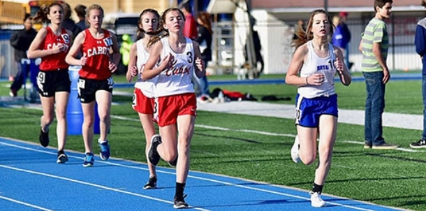 Middle school girls teams compete well at Junior Hornet Relays