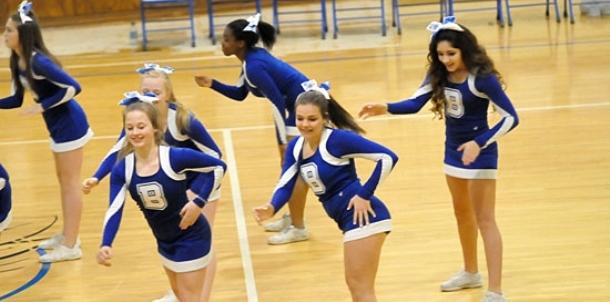 Bethel eighth grade cheer, dance perform