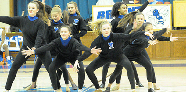 Bryant Middle School cheer, dance entertain at halftime