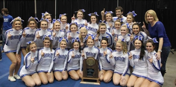 Bryant Varsity Cheer squad captures 5A-7A Co-ed State championship