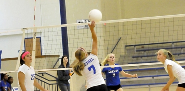 Bryant Blue rallies to complete sweep of Lady Cats