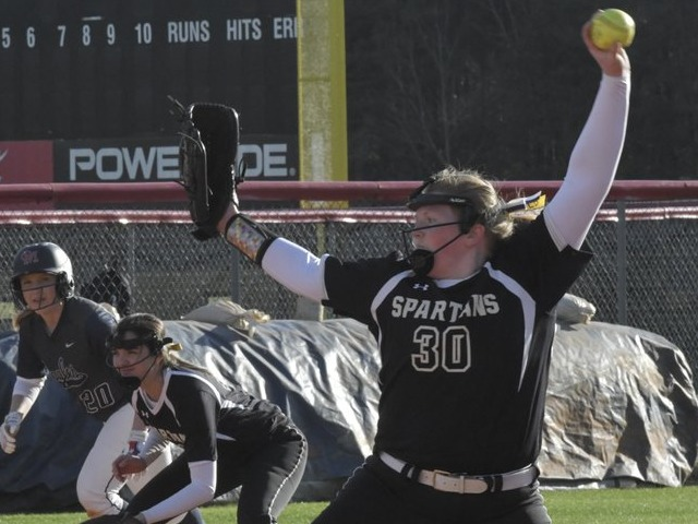 Softball picks up first win