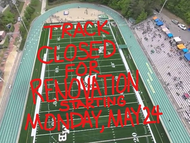 Track Renovation Begins Monday, May 24th - Closed to Public