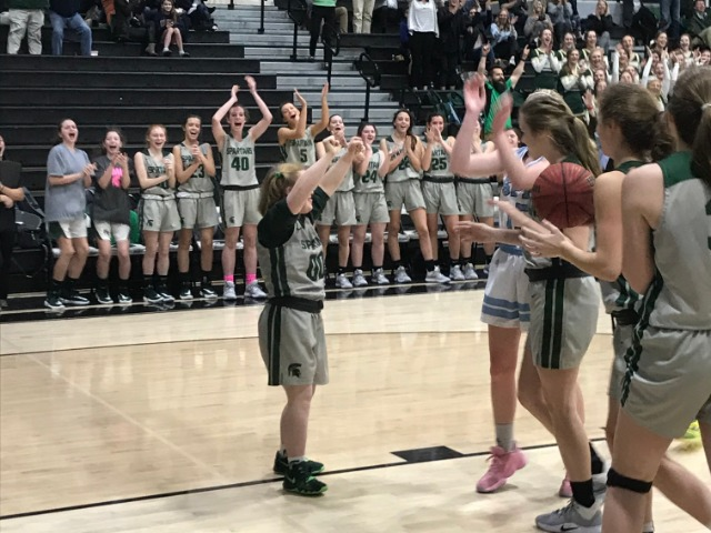 Special End of Season for Girls Basketball Manager Lindsay Davis