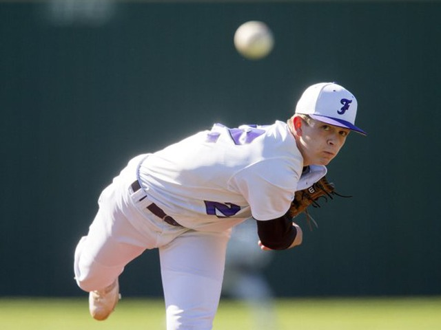 Pleimann excels on the mound and at the plate for Fayetteville