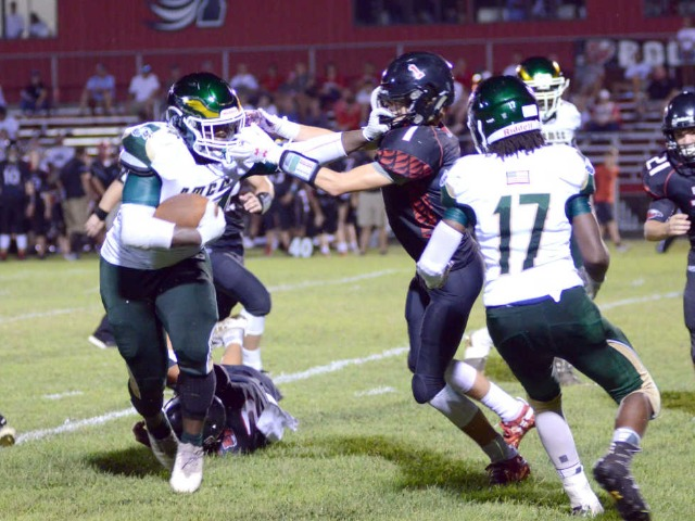 Riley steps into starring role as NMCC routs East Prairie 46-6