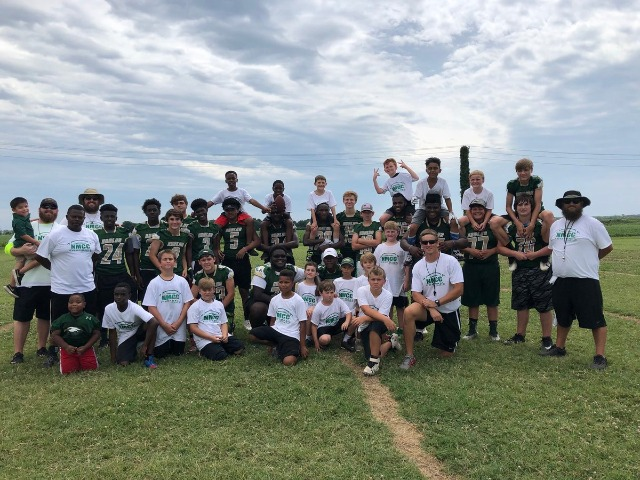 Great day today at NMCC football youth camp