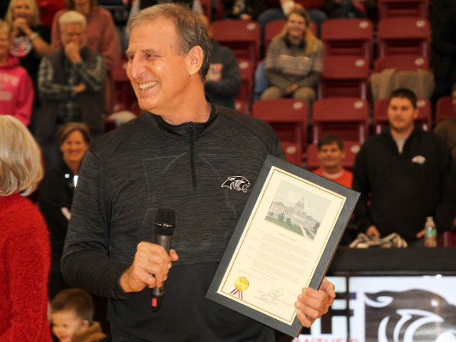 Image for Coach Malham Honored With Senate Citation