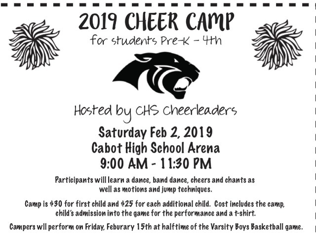 Image for CHS Cheer Camp 2019: Feb. 2nd