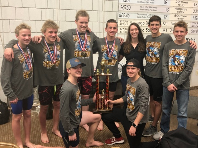 LH Boys Swim Team become conference champions!