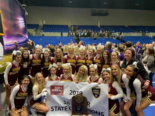 Image for article titled 2019 5A Cheer State Champions!!