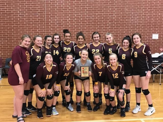 JH Volleyball takes 2nd in Tourney