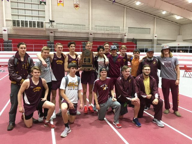 LH Track takes 2nd in State Indoor Track Championship held in Fayetteville
