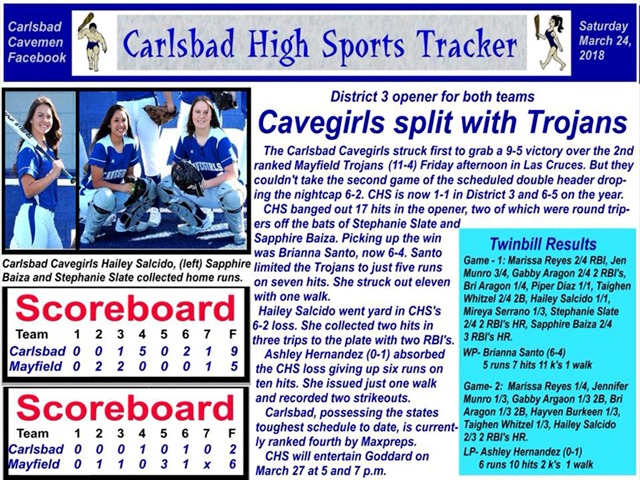 Cavegirl Softball update