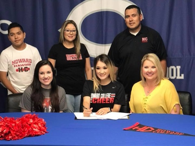 Amara Perez for signing a scholarship with the Howard College Cheer Program!