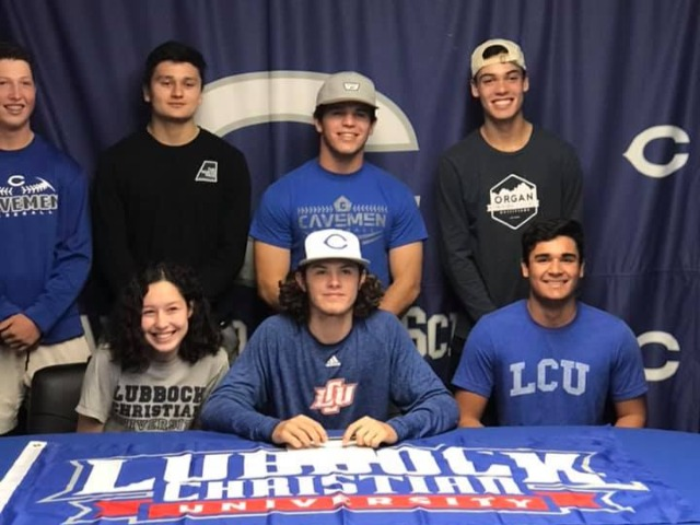 Mason Estrada, signing  to play baseball at Lubbock Christian University