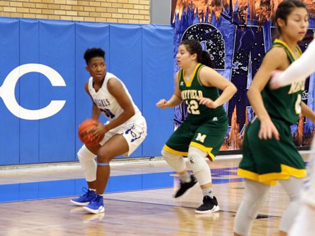 Free throws lead Cavegirls to victory over Trojans