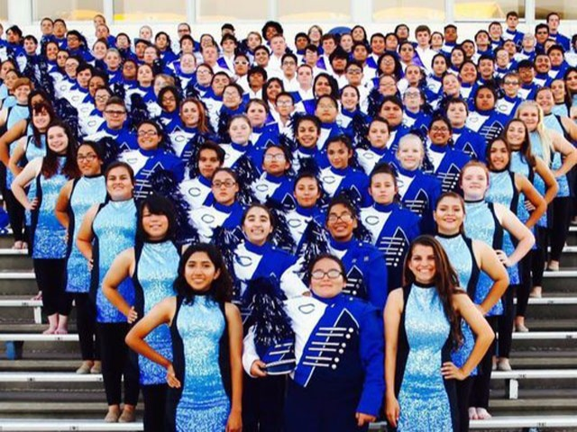 Marching band wins at Pecos competition