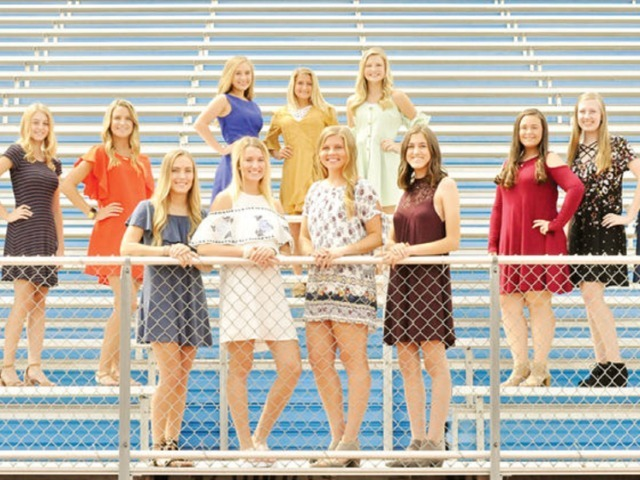 Homecoming Queen Brylie Parker and her court
