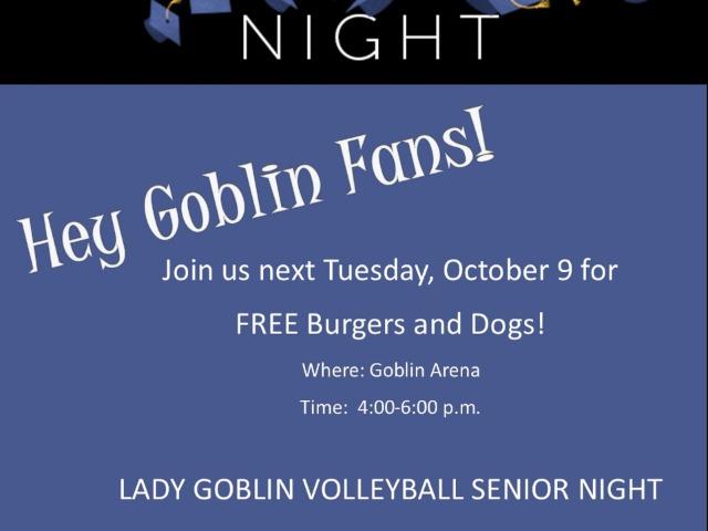 Lady Goblin Volleyball SR Night