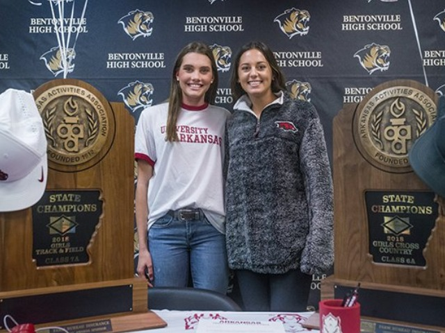 Bentonville duo to remain teammates at Arkansas