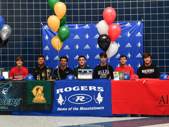 7 Mountie Baseball players sign letter of intent for College