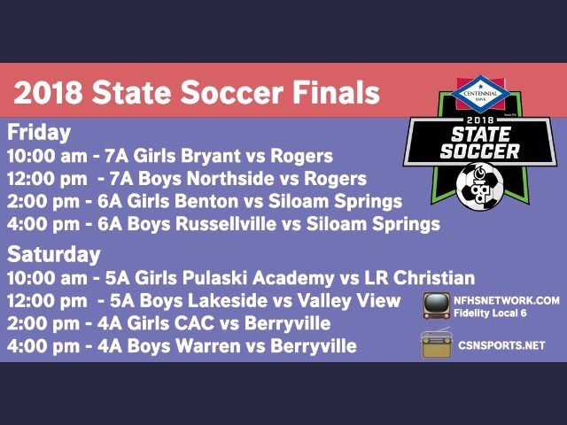 2018 State Championship times announced!