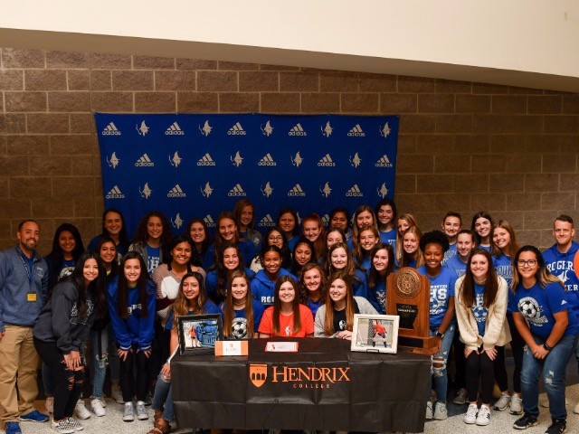 Lady Mounties Soccer, Mackenzie Brace signs with Hendrix College