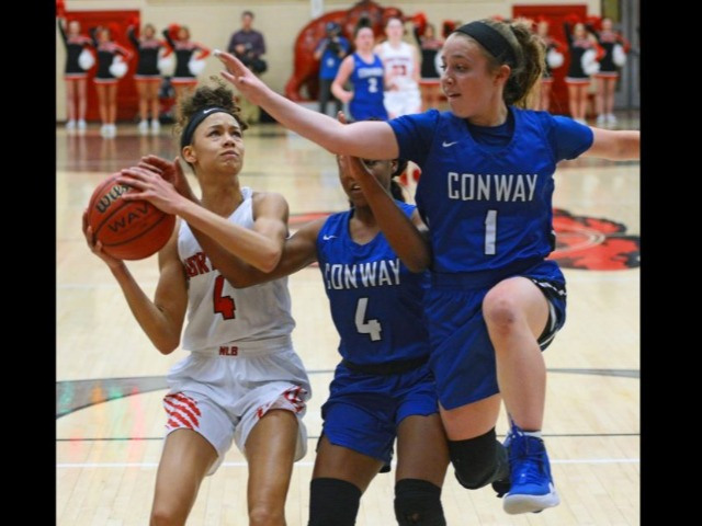 No. 1 NHS Lady Bears take control of 6A-Central with decisive win vs. No. 2 Conway