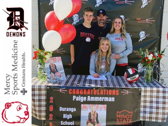Image for Durango's Ammerman finds home away from home with Minot State volleyball