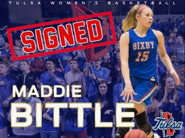 Tulsa Women's Basketball Adds Maddie Bittle to 2018 Signing Class
