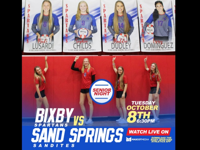 WATCH LIVE: Volleyball vs Sand Springs 10/8