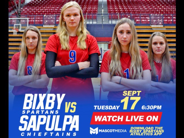 WATCH LIVE: Volleyball vs Sapulpa 9/17