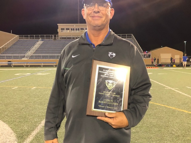 Lueders Recognized at  his last Home Football Game
