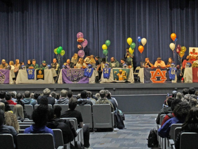 Six Wampus Cats sign letters of intent to continue academic, athletic careers