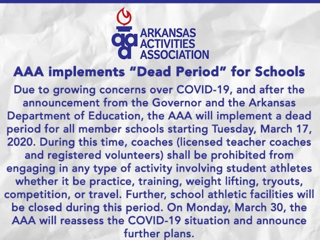 """Image for AAA implements """"Dead Period"""" for Schools!"""