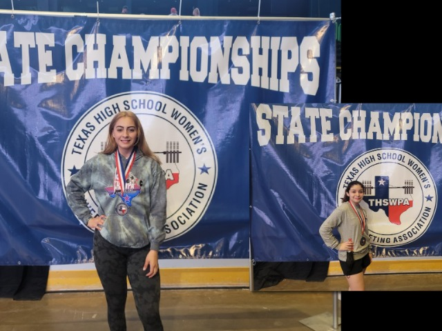 Image for Girls Powerlifting Davila State Champ - Garza State Runner Up
