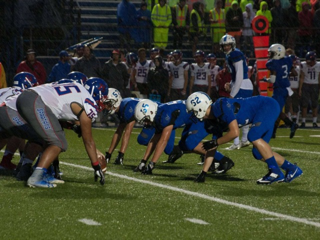 Sapulpa faces first loss of the season in a water-logged game against Bixby