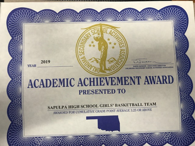 Girls Basketball receives OSSAA Academic honor