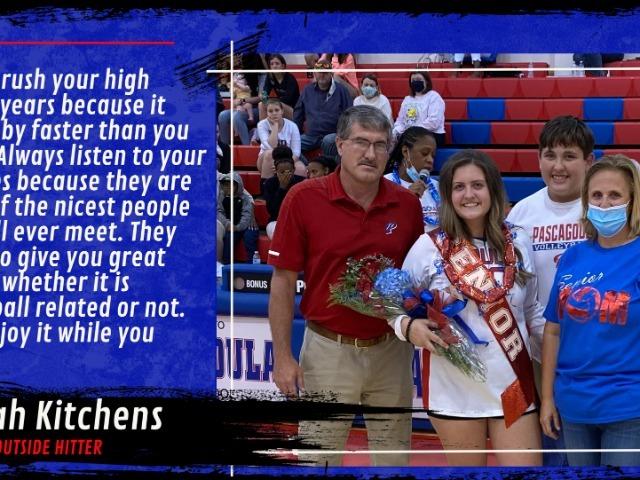 Pascagoula Volleyball Recognizes Senior, Sarah Kitchens