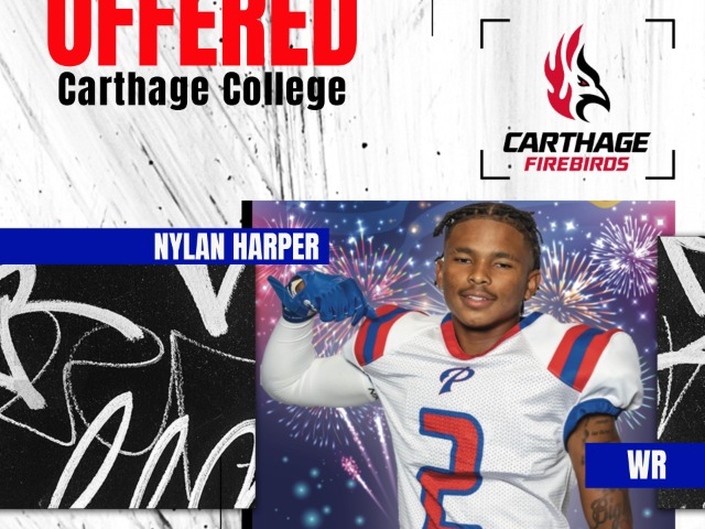 Senior Panther, Nylan Harper, Receives Scholarship Offer From Carthage Collge