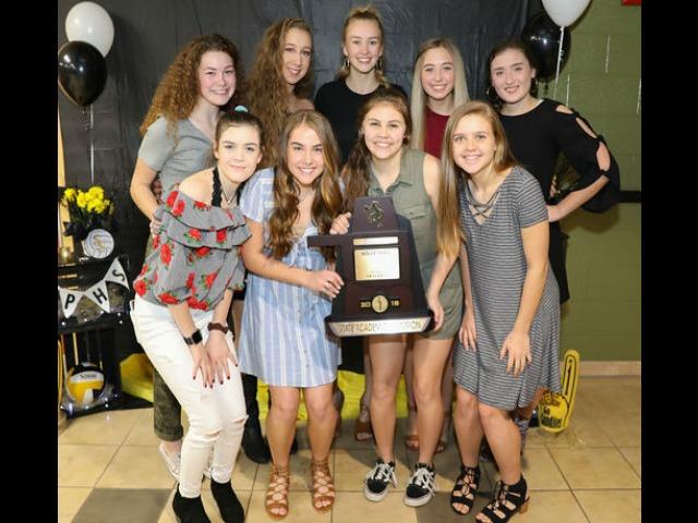 Sandites celebrate academic state championship at banquet