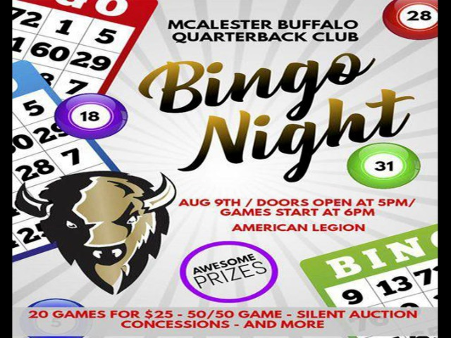 5 THINGS TO KNOW: McAlester Quarterback Club brings back bingo fundraiser
