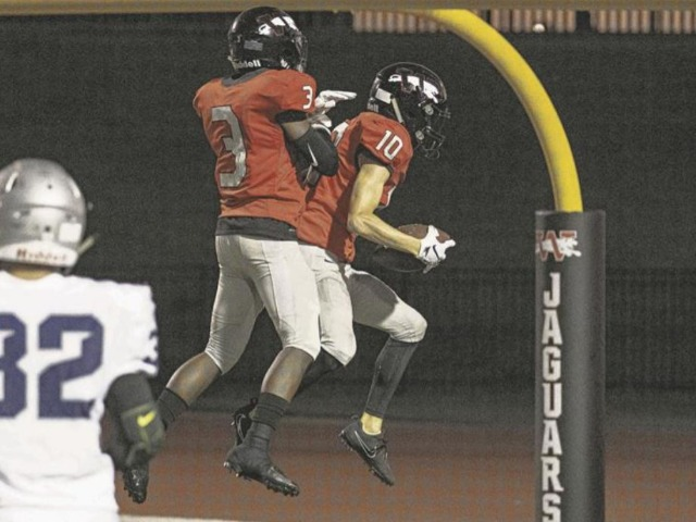 Jaguars get creative in 54-0 rout of Enid to open district