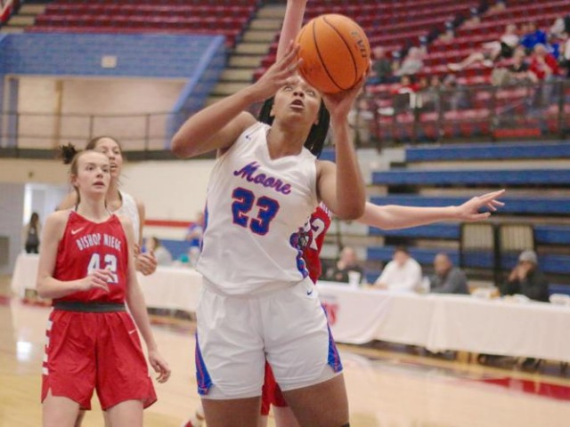 Moore girls basketball: Aaliyah Moore and Team USA teammate