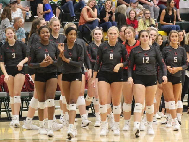 Liberty Volleyball Team Wins Matchup of District Unbeatens